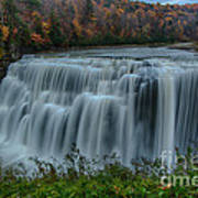 Middle Falls At Letchworth State Park Art Print