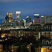 Midtown Atlanta Skyline At Dusk Art Print