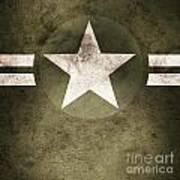 Military Army Star Background Art Print