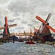 Mills At Westzijderveld Near Zaandam Art Print