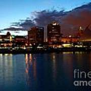 Milwaukee Skyline At Dusk Art Print