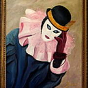 Mime With Thoughts Art Print