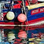Miss Pattie At Lyme Regis Harbour  Art Print