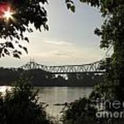 Missouri River Sunrise  Art Print
