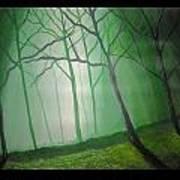 Misty Green Art Print by Haleema Nuredeen