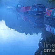 Misty Morning On The Grand Union Canal Art Print