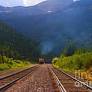 Misty Mountain Train Art Print