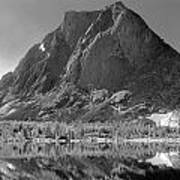 109644-bw-mitchell Peak, Wind Rivers Art Print