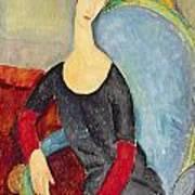 Mme Hebuterne In A Blue Chair Art Print