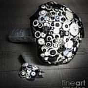 Modern Button Design Wedding Bouquet Art Print