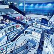 Modern Shopping Mall Interior Art Print