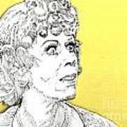 Momma On Yellow Art Print