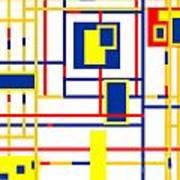 Mondrian Color Teraphy Art Print