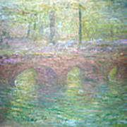 Monet's Waterloo Bridge In London At Dusk Art Print