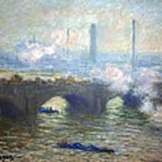 Monet's Waterloo Bridge On A Gray Day Art Print