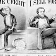 Money Lending, 1870 Art Print