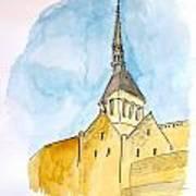 Mont Saint Micheal Art Print