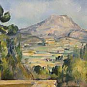 Montagne Saint-victoire Art Print