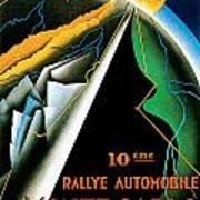 Monte Carlo Rallye Automobile Art Print