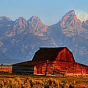 Mormon Row And The Grand Tetons  Art Print