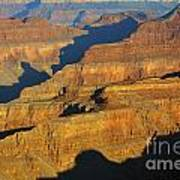 Morning Color And Shadow Play In Grand Canyon National Park Art Print