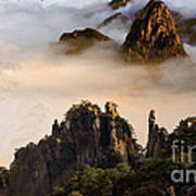 Morning Fog China Mountains  Art Print