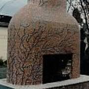 Mosaic Fireplace Art Print