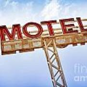 Motel Sign Art Print