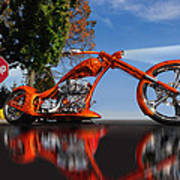 Motorcycle Reflections Art Print