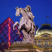Musee Du Louvre Statue Art Print