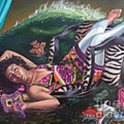 my private Tsunami Art Print by Shelley Laffal