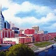 Nashville Skyline Art Print by Janet King
