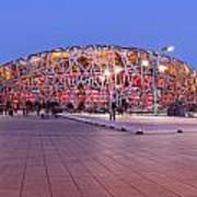National Stadium Panorama Beijing China Print by Colin and Linda McKie