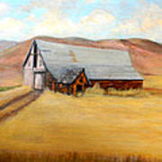 Nevada Barn Art Print