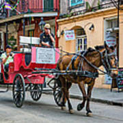 New Orleans - Carriage Ride Art Print