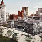 New York City Hall 1900 Art Print