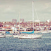 Newport Beach Panorama Art Print