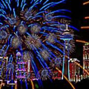 Niagara Fireworks Art Print