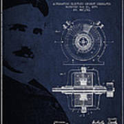 Nikola Tesla Patent From 1891 Art Print