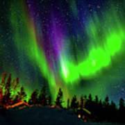 Northern Lights, Lapland, Sweden Art Print