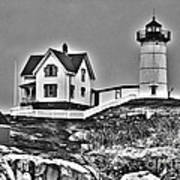Nubble Lighthouse Cape Neddick Maine Art Print by Glenn Gordon