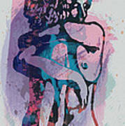 Nude - Pop Art Etching Poster 1 Art Print