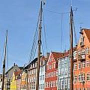 Nyhavn In Copenhagen Denmark - Famous Tourist Attraction Art Print