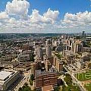 Oakland Pitt Campus With City Of Pittsburgh In The Distance Art Print