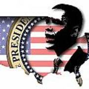 Obama-2 Art Print