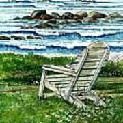 Ocean Chair Art Print