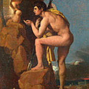 Oedipus And The Sphinx Art Print