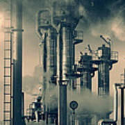 Oil And Gas Power Industry Art Print