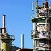 Oil Refinery Art Print