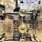 Old Bank Vault In Historic Building Art Print